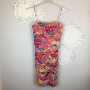 David Meister Gorgeous Floral Ruched BodyCon Dress
